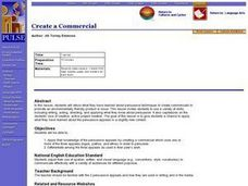 Create a Commercial Lesson Plan