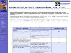 Industrialization, Chemicals and Human Health - Math Lesson Plan