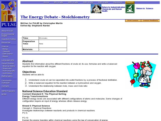 The Energy Debate - Stoichiometry Lesson Plan