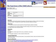 The Experience of the Child Laborer Lesson Plan