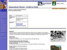 Ammonium Nitrate - Jeckyl or Hyde Lesson Plan