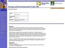 Energy And Environmental Trade-offs Lesson Plan