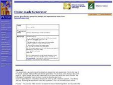 Science Lesson: Home-made Generator Lesson Plan