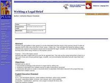 Writing a Legal Brief Lesson Plan