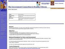 The Government Connection to Healthy Citizens Lesson Plan