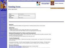 Tanning Teens Lesson Plan