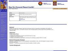 May We Present Planet Earth? Lesson Plan