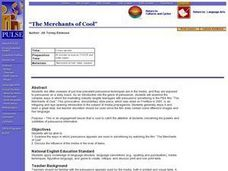 """The Merchants of Cool"" Lesson Plan"