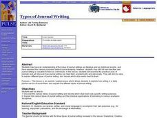 Types of Journal Writing Lesson Plan