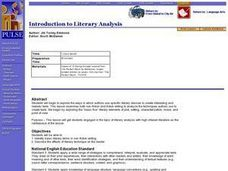 Introduction To Literary Analysis Lesson Plan