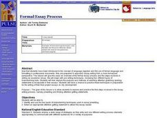 Formal Essay Process Lesson Plan