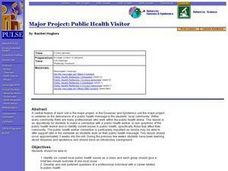Maajor Project: Public Health Visitor. Lesson Plan