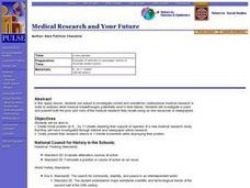 Medical Research and Your Future Lesson Plan