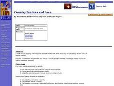 Country Borders and Area Lesson Plan