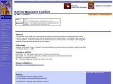 Review Resource Conflict Lesson Plan