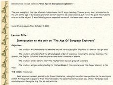 Introduction To the Unit on ???the Age of European Explorers??? Lesson Plan