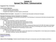 Lesson 4: Spread the News - Communication Lesson Plan