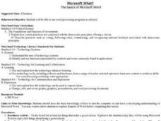 Microsoft What? - The Basics of Microsoft Word Lesson Plan