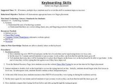Keyboarding Skills Lesson Plan