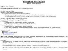 Economics Vocabulary Lesson Plan