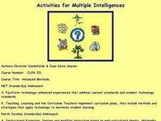 Education: Activities for Multiple Intelligences Lesson Plan