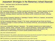 Assessment Strategies in the Elementary School Classroom Lesson Plan