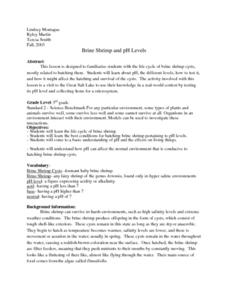 Brine Shrimp And Ph Levels Lesson Plan