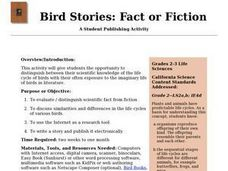 Bird Stories: Fact or Fiction Lesson Plan