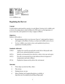 Regulating the Harvest Lesson Plan