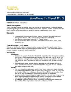 Biodiversity Word Walk Lesson Plan