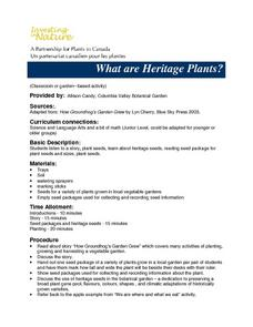 What Are Heritage Plants? Lesson Plan
