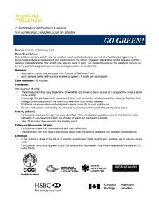 Go Green! Lesson Plan