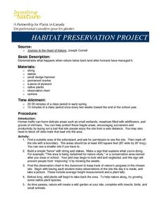 Habitat Preservation Project Lesson Plan