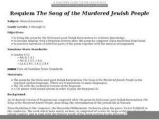 "Requiem ""The Song of the Murdered Jewish People"" Worksheet"
