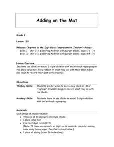 Adding on the Mat Lesson Plan