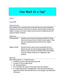 How Much In A Cup? Lesson Plan