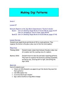 Making Digit Patterns Lesson Plan