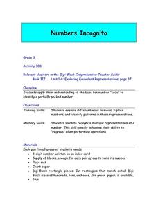 Numbers Incognito Lesson Plan