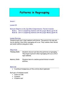 Patterns In Regrouping Lesson Plan