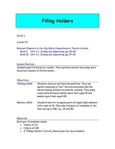 Filling Holders Lesson Plan