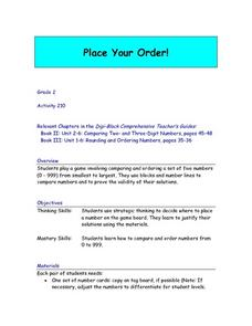 Place Your Order Lesson Plan