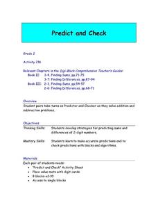 Predict and Check Lesson Plan
