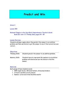 Predict and Win Lesson Plan