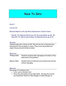 Race To Zero Lesson Plan