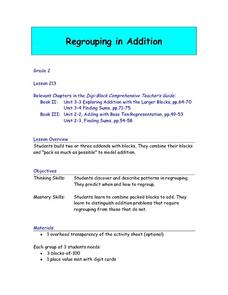 Regrouping in Addition Lesson Plan