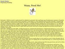 Waaa, Feed Me! Lesson Plan