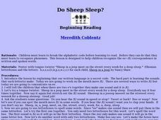 Do Sheep Sleep? Lesson Plan