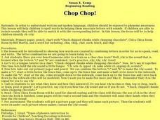Chop Chop! Lesson Plan