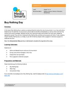 Buy Nothing Day Lesson Plan