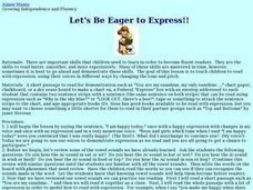 Let's Be Eager To Express!! Lesson Plan